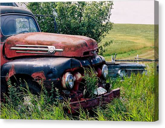 The Old Farm Truck Canvas Print