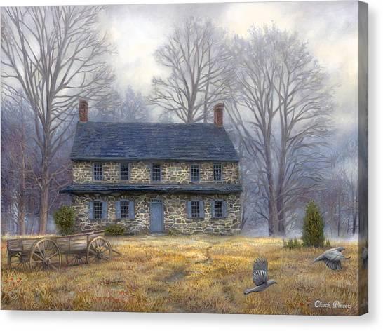 Historic Canvas Print - The Old Farmhouse by Chuck Pinson