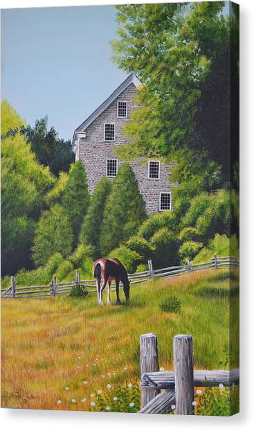 The Old Grist Mill Canvas Print by Dave Hasler