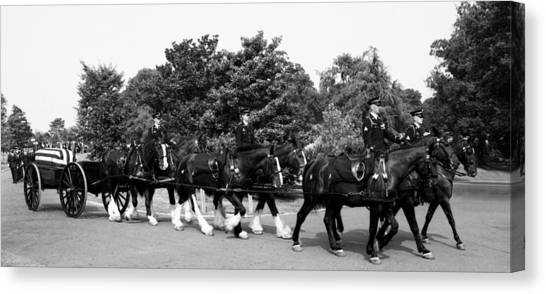 The Old Guard Caisson  Canvas Print