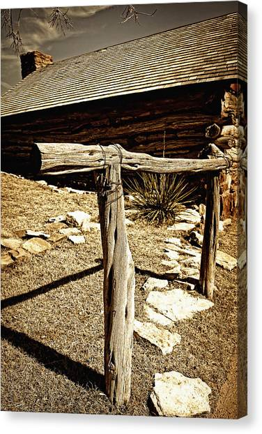 The Old Hitching Post Canvas Print