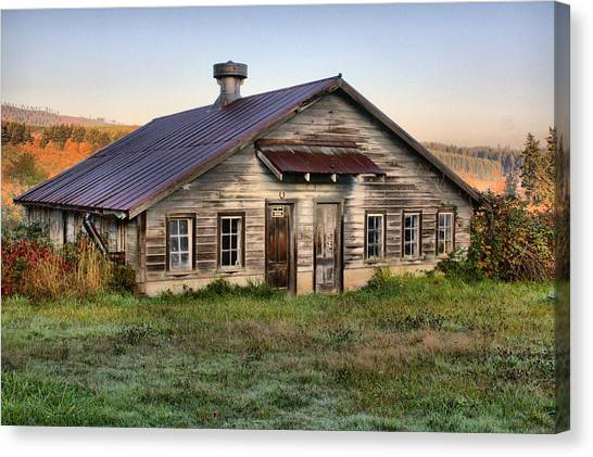 The Old Homestead Canvas Print by Melody Madsen