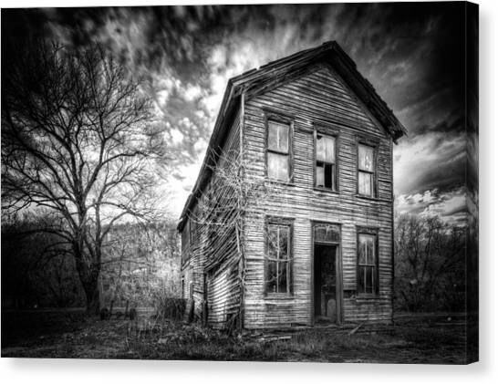 Old Houses Canvas Print - The Old House 1 by Emmanuel Panagiotakis