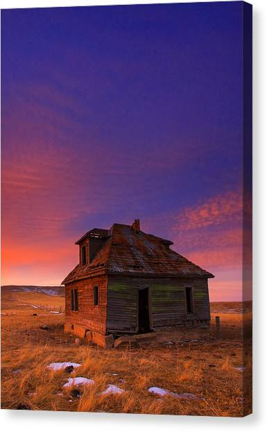 Old Houses Canvas Print - The Old House by Kadek Susanto