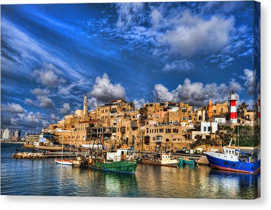 the old Jaffa port Canvas Print