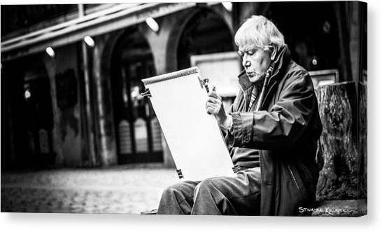 Canvas Print featuring the photograph The Old Man Painter II by Stwayne Keubrick