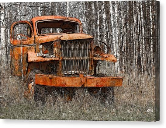The Old Military Truck Canvas Print