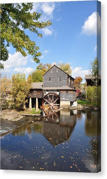 The Old Mill - Lazy Summer Day Canvas Print by John Saunders