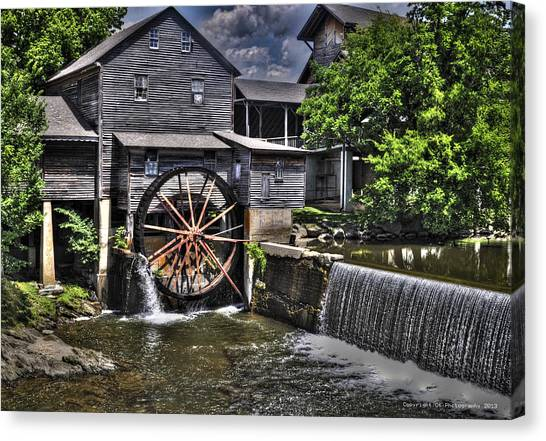 The Old Mill Restaurant Canvas Print
