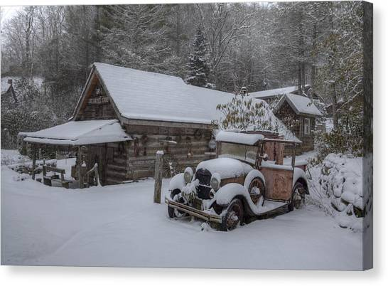 The Old Mill Store Canvas Print by Stephen Gray