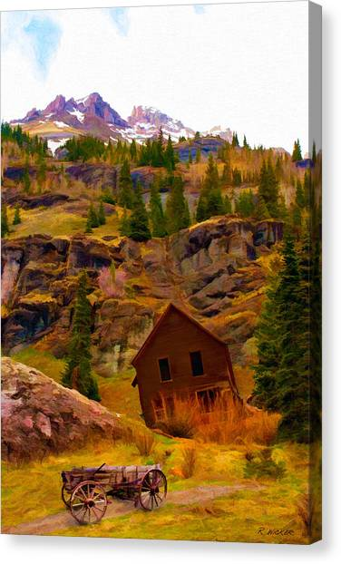The Old Miners House Canvas Print