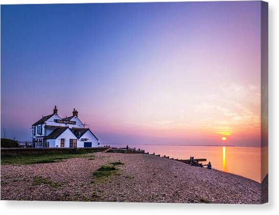 Neptune Canvas Print - The Old Neptune - Whitstable Beach by Ian Hufton