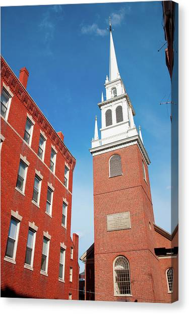 New England Revolution Canvas Print - The Old North Church Is Officially by Panoramic Images