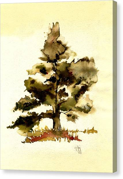 The Old Oak Tree Canvas Print