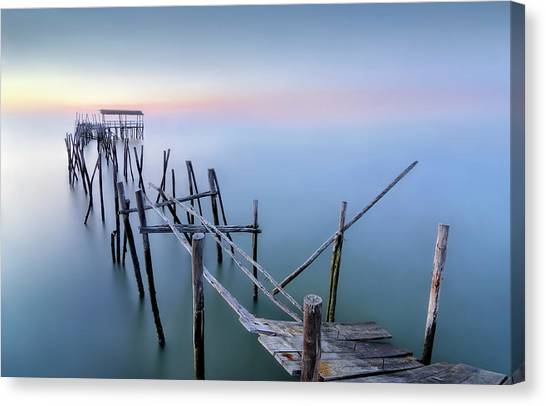 Pier Canvas Print - The Old Pier by Fran Osuna