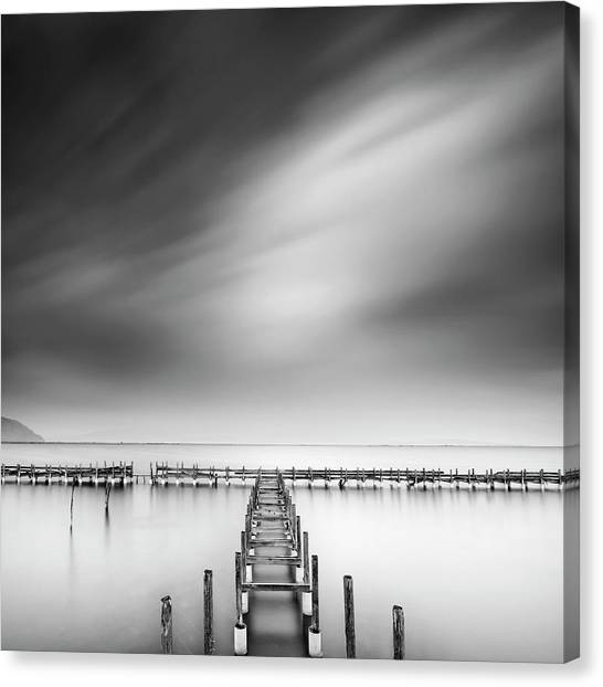 Pier Canvas Print - The Old Pier by George Digalakis