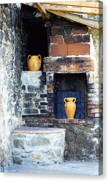 The Old Pizza Oven Canvas Print
