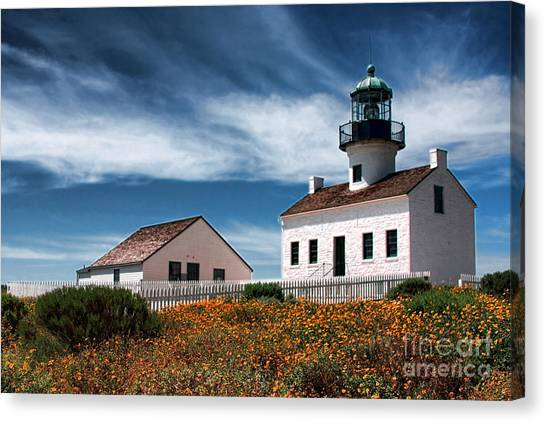 The Old Point Loma Lighthouse By Diana Sainz Canvas Print