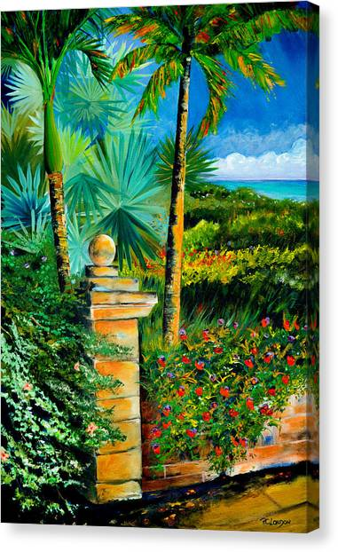 The Old Post In Key West Canvas Print