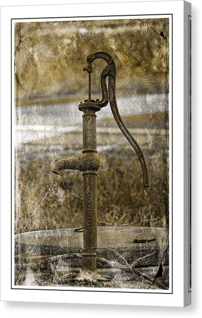 The Old Pump Canvas Print