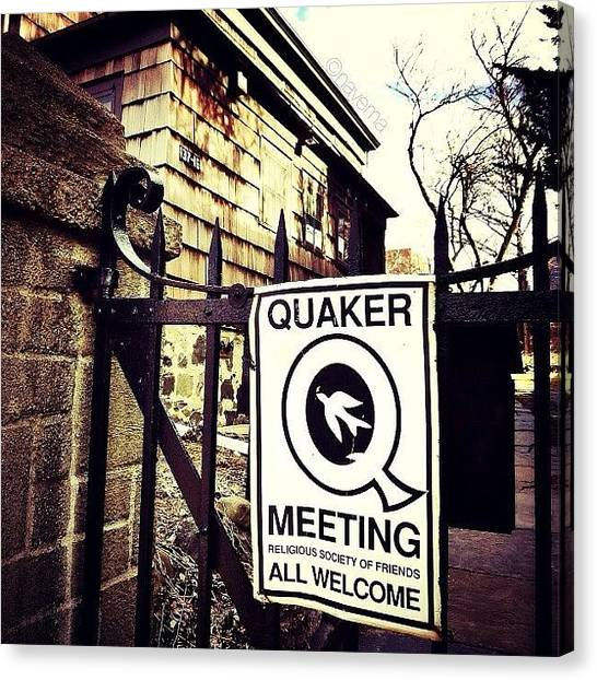 Religious Canvas Print - The Old Quaker Meeting House: Built In by Natasha Marco