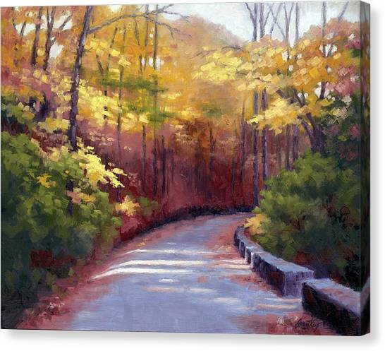 Warner Park Canvas Print - The Old Roadway In Autumn II by Janet King
