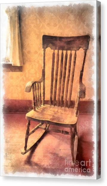 Grandpa Canvas Print - The Old Rocker by Edward Fielding