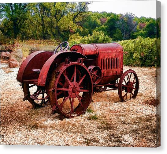 The Old Rust Bucket Canvas Print