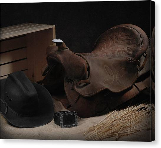 The Old Saddle Canvas Print