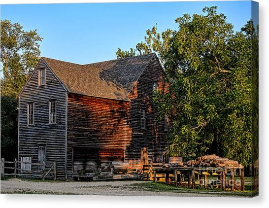 Saws Canvas Print - The Old Sawmill by Olivier Le Queinec
