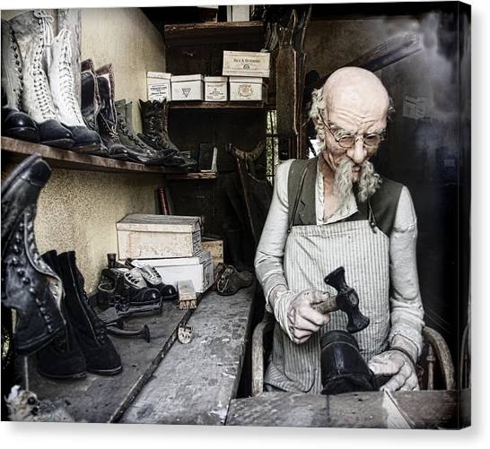 Canvas Print - The Old Shoe Cobbler by Steve McKinzie