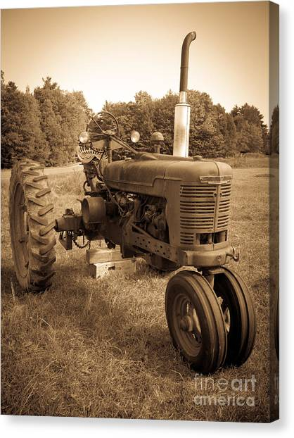 John Deere Canvas Print - The Old Tractor by Edward Fielding