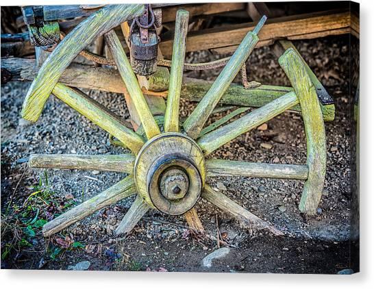 The Old Wagon Wheel Canvas Print