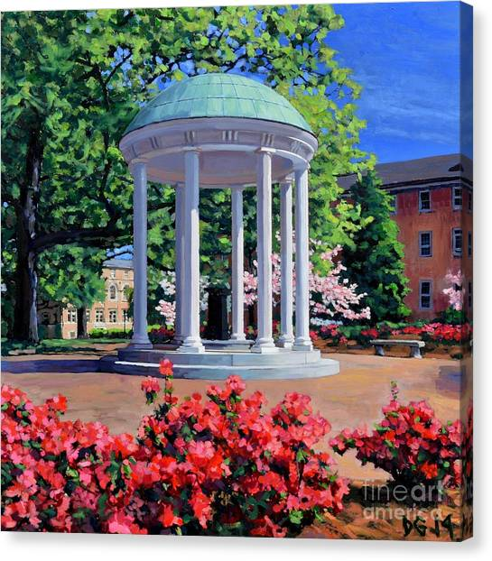 Unc Canvas Print - The Old Well - Springtime by David Gellatly
