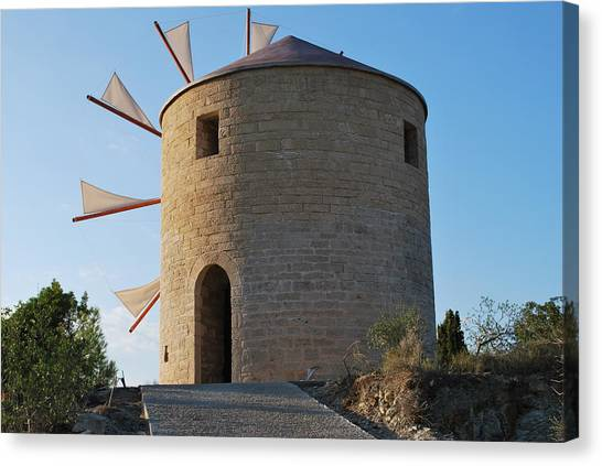 The Old Windmill 1830 Canvas Print