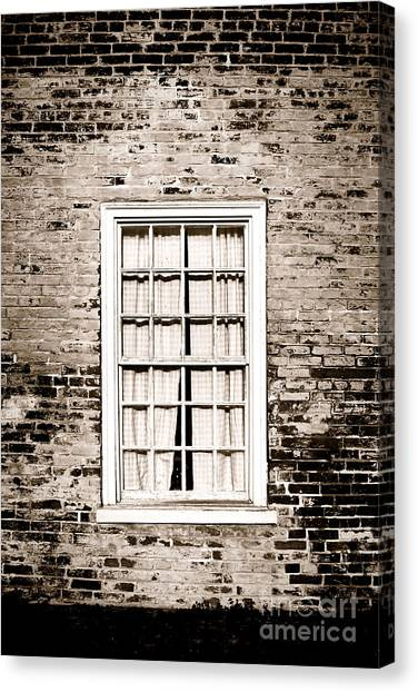 Brick House Canvas Print - The Old Window by Olivier Le Queinec