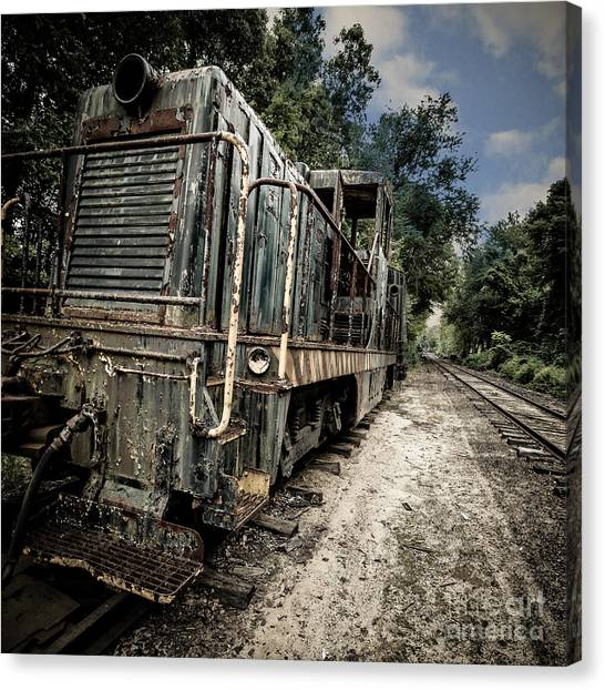 Canvas Print featuring the photograph The Old Workhorse by Edward Fielding