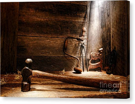 Hammers Canvas Print - The Old Workshop by Olivier Le Queinec