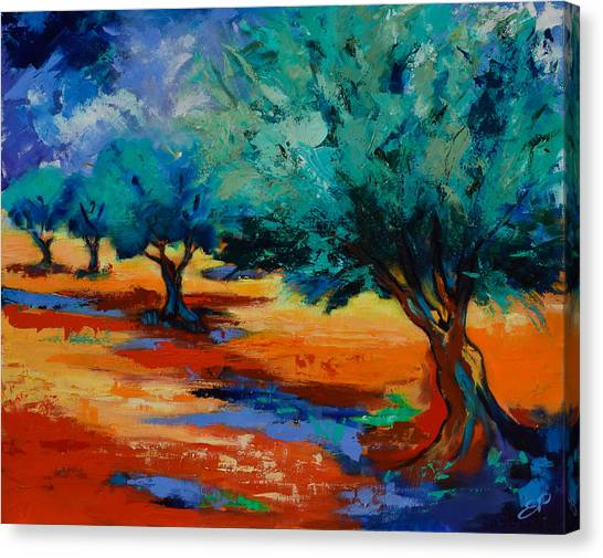 Fauvism Canvas Print - The Olive Trees Dance by Elise Palmigiani