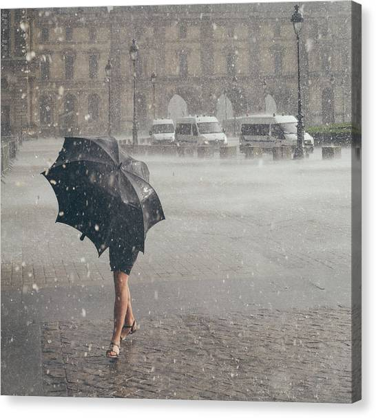 The Louvre Canvas Print - The One From Paris by Nate Clark