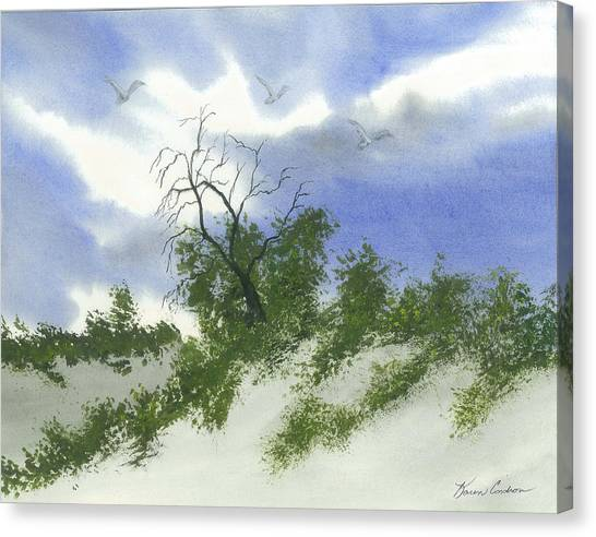 The One Tree Canvas Print by Karen  Condron