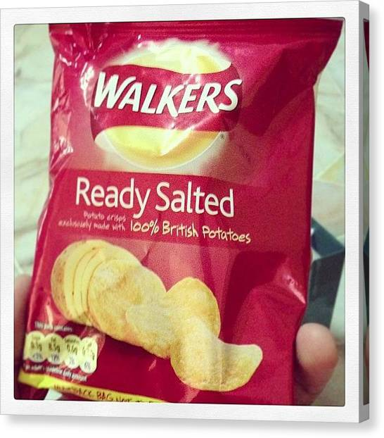 Potato Canvas Print - The Only #crisps Brand I Trust #walkers by Jive Soo
