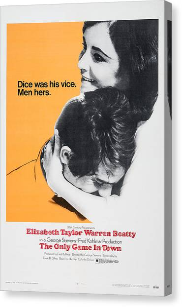 Elizabeth Warren Canvas Print - The Only Game In Town, Us Poster Art by Everett