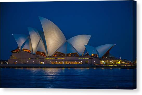 The Opera House Canvas Print by Dasmin Niriella