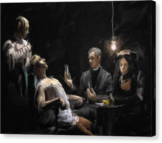 Priests Canvas Print - The Operation by H James Hoff