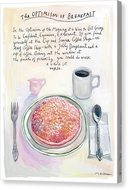 2013 Canvas Print - The Optimism Of Breakfast by Maira Kalman