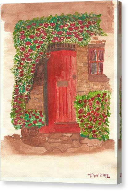 The Orange Door Canvas Print