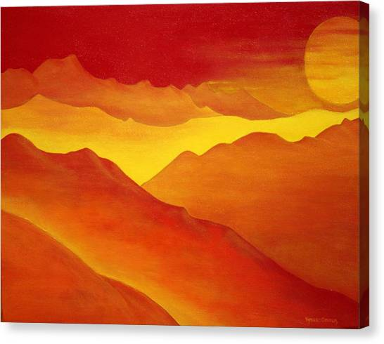 The Orange Mountains Canvas Print by Robert Crooker