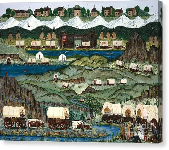 The Oregon Trail Canvas Print