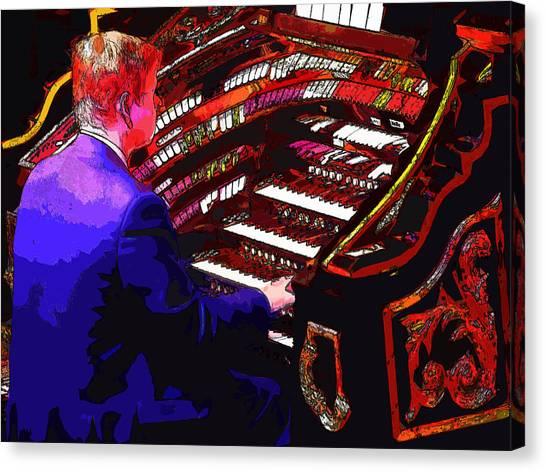 The Organ Player Canvas Print